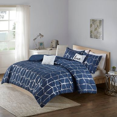 Kids Penmare Navy 5 Pc Full/Queen Comforter Set