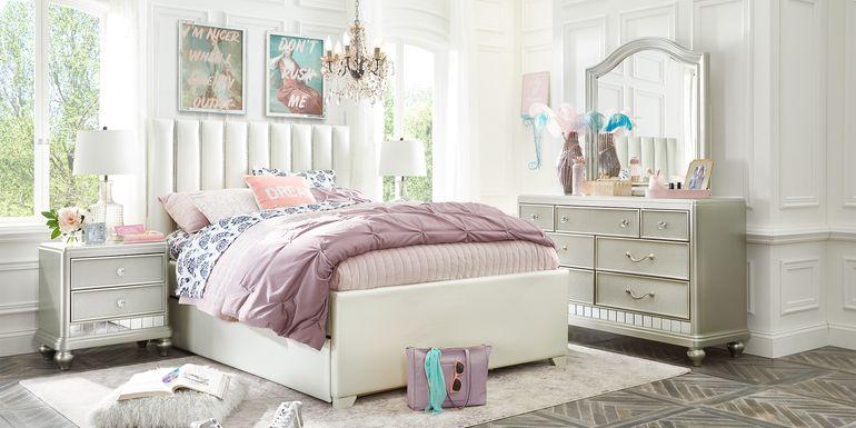 Kids Sofia Vergara Petit Paris Silver 5 Pc Twin Upholstered Bedroom