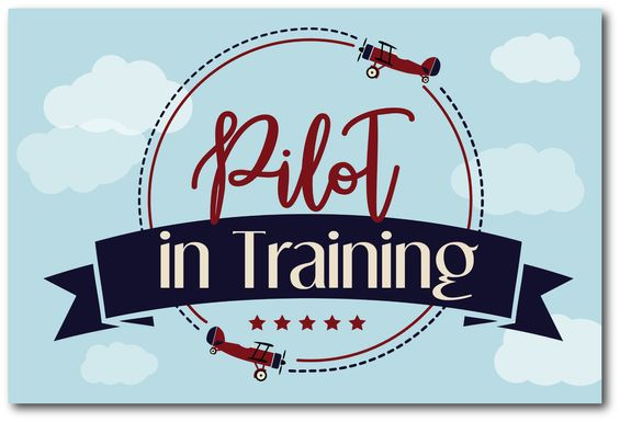 Kids Pilot Trainee II Blue Artwork