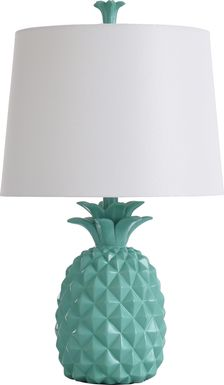 Kids Pineapple Party Green Lamp