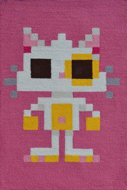 Kids Pixy Cat Pink 2'8 x 4'8 Rug