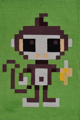 Kids Pixy Monkey Green 2'8 x 4'8 Rug