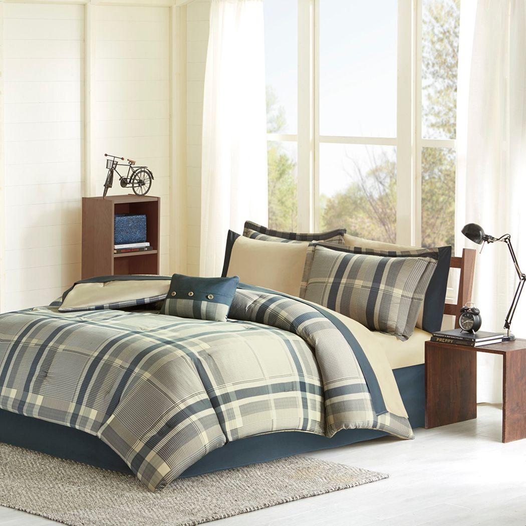 Kids Plain Jake Beige 7 Pc Twin XL Comforter Set