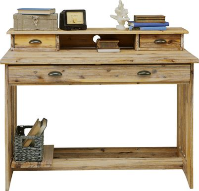 Kids Portside Sand Desk and Hutch