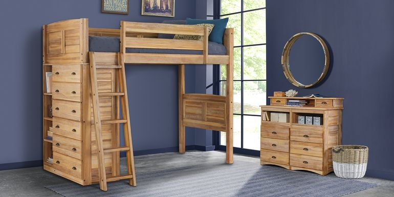 Kids Portside Sand Twin Loft Bed