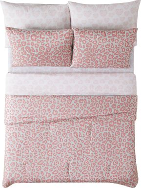 Kids Pretty and Spotty Pink 7 Pc Full Comforter Set