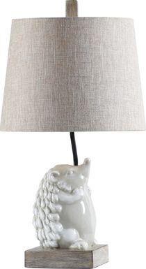 Kids Prickly Hedgehog White Lamp