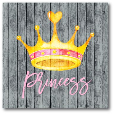Kids Princess Crowning Gray Artwork