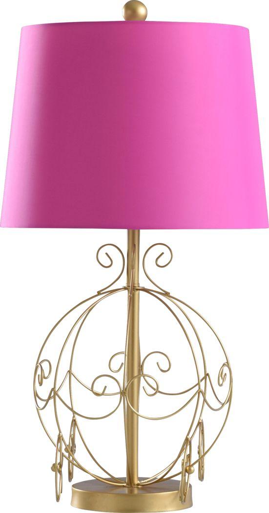 Kids Princess Trail Gold Lamp