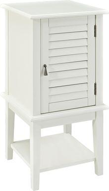 Raiden White Shutter Door Table