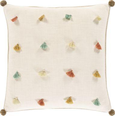 Kids Rainbow Tess Ivory Accent Pillow