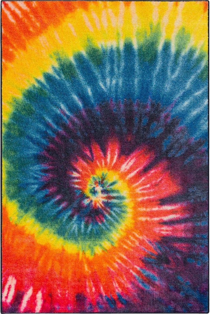 Kids Rainbow Wave Orange 5' x 8' Rug
