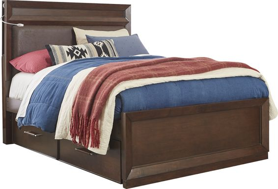 Kids reGen™ Zaine Brown Cherry 3 Pc Full Upholstered Bed