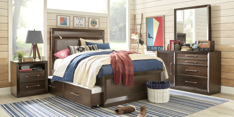Kids reGen™ Zaine Brown Cherry 5 Pc Full Upholstered Bedroom