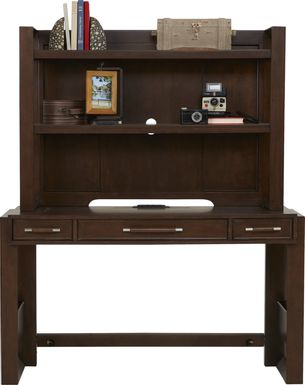 Kids reGen™ Zaine Brown Cherry Desk & Hutch Set