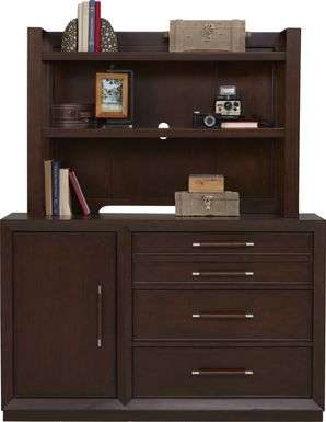 Kids reGen™ Zaine Brown Cherry Dresser & Hutch Set