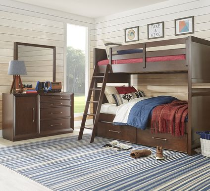 Kids reGen™ Zaine Brown Cherry Twin/Twin Bunk