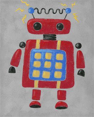 Kids Robo Leader IV Red Artwork