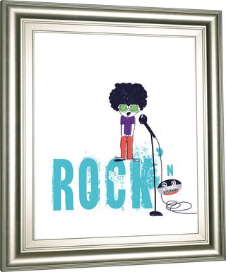 Kids Rock Child White Artwork