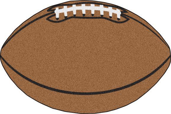 Kids Running Play Brown 2'7 x  1'7 Rug