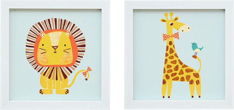 Kids Safari Party Blue Artwork