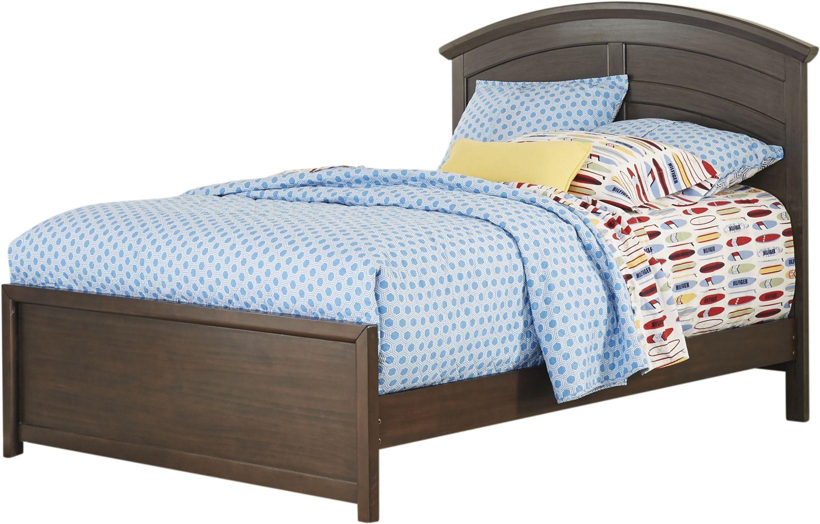 Kids Santa Cruz Brown Cherry 3 Pc Full Panel Bed