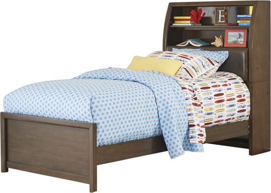 Kids Santa Cruz Brown Cherry 3 Pc Twin Bookcase Bed