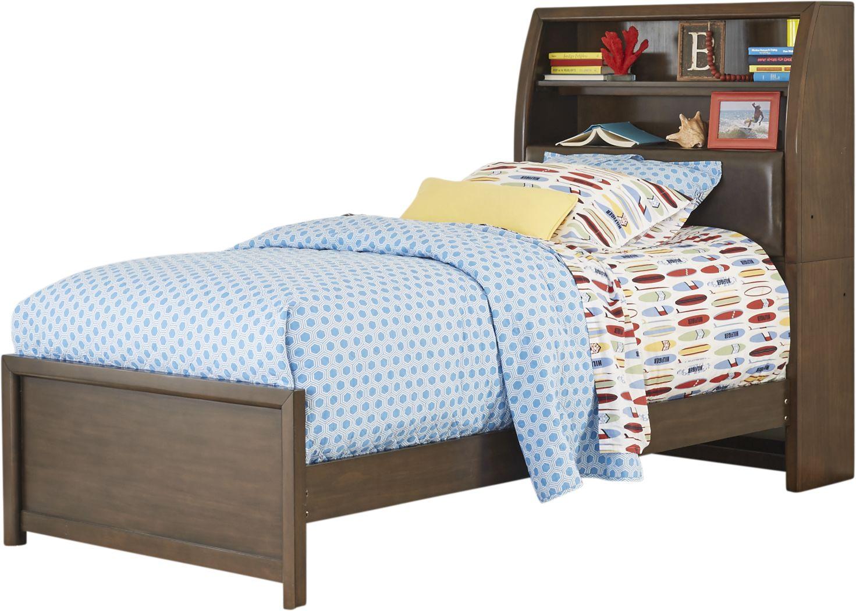 Kids Santa Cruz Brown Cherry 3 Pc Twin Bookcase Bed