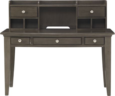 Kids Santa Cruz Gray Desk & Hutch