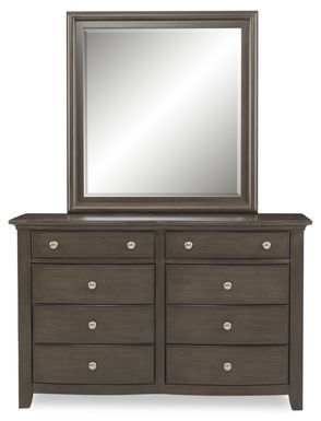 Kids Santa Cruz Gray Dresser & Mirror Set