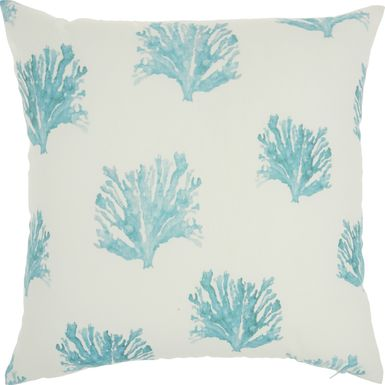 Kids Seaflower Teal Accent Pillow