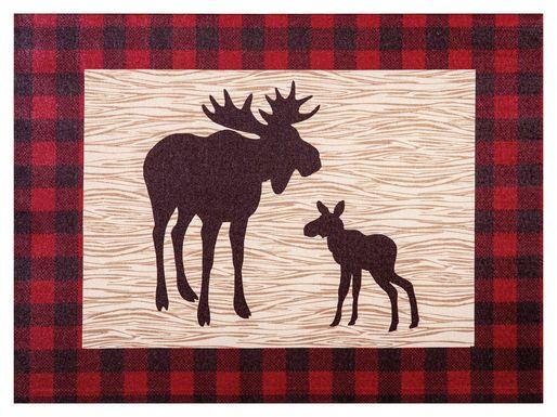 Kids Slumbering Moose Red Artwork