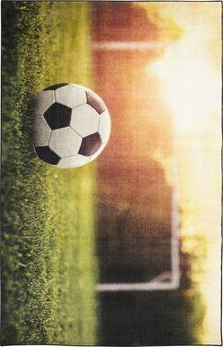Kids Soccer Practice Green 3' x 5' Rug
