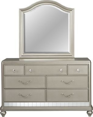 Kids Sofia Vergara Petit Paris Silver Dresser & Mirror Set