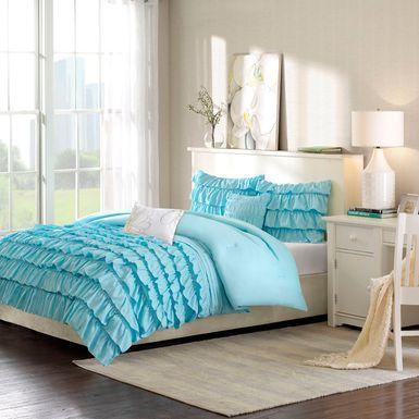 Kids Soft Waterfall Blue 4 Pc Twin Comforter Set