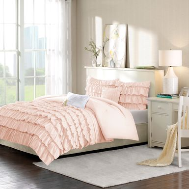 Kids Soft Waterfall Blush 5 Pc Full/Queen Comforter Set