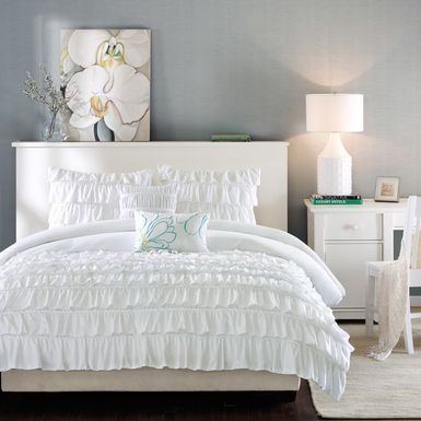Kids Soft Waterfall White 5 Pc Full/Queen Comforter Set