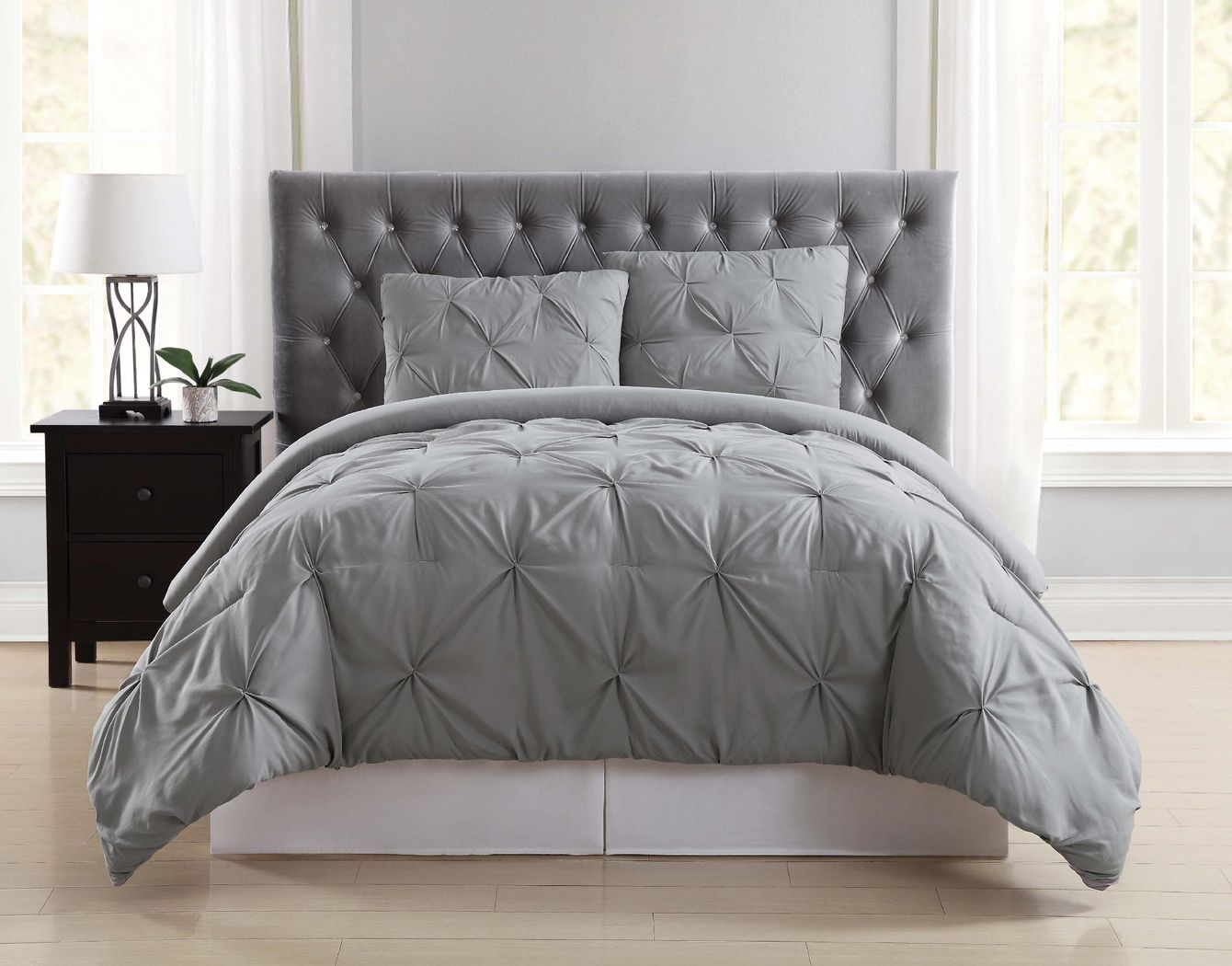 Kids Soft Waves Gray 2 Pc Twin Comforter Set