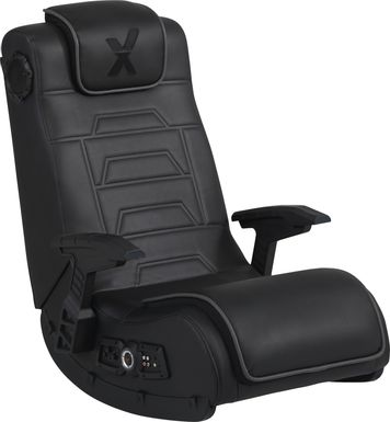 Kids Sound Trek Black Gaming Floor Rocker