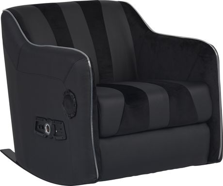 Kids Sound Trek Black Gaming Rocker
