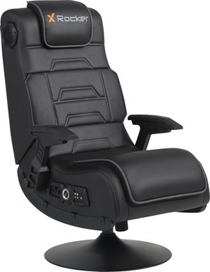 Kids Sound Trek Black Gaming Swivel Chair