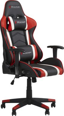 Kids Sound Trek Black/Red Gaming Desk Chair
