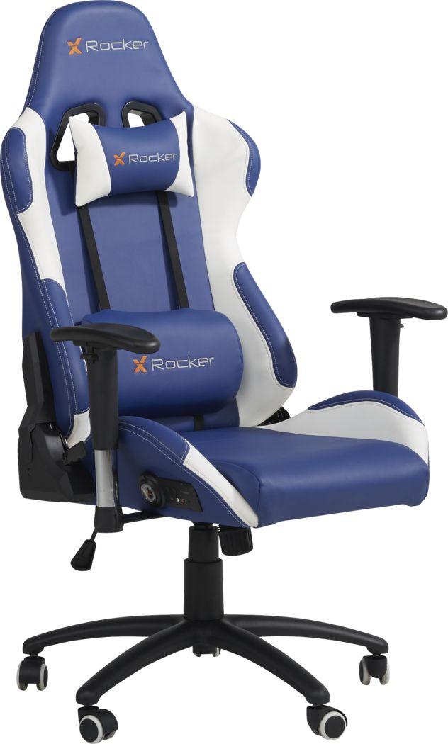 Kids Sound Trek Blue/White Gaming Desk Chair