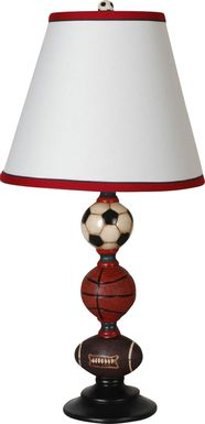 Kids Sports Stack Brown Lamp, Set of 2