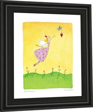 Kids Spring Fairy Yellow Artwork