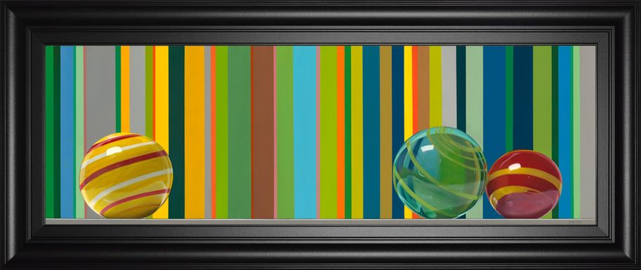 Kids Spring Marbles Green Artwork