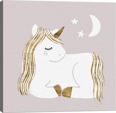 Kids Starry Unicorn II Gray Artwork