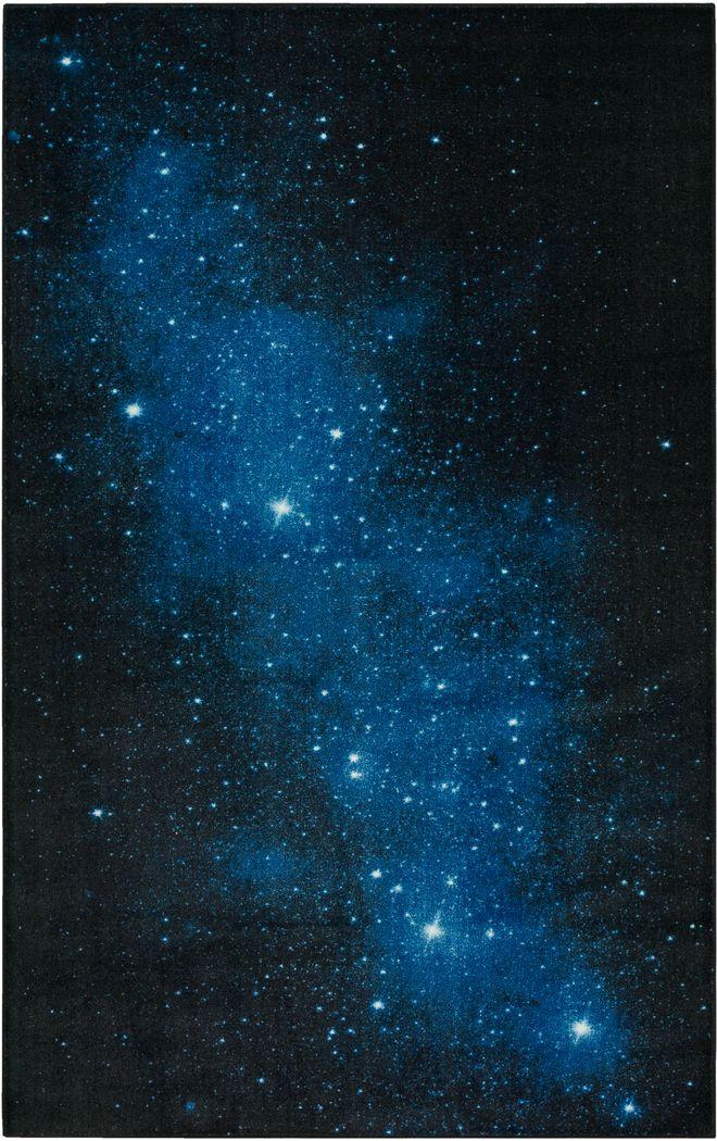 Kids Stellar Nights Blue 3' x 5' Rug'