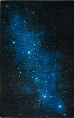 Kids Stellar Nights Blue 8' x 10' Rug'
