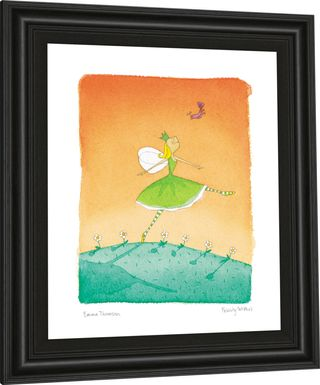 Kids Summer Fairy Orange Artwork